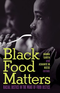 Black Food Matters book cover black and white image of two Black boys dining