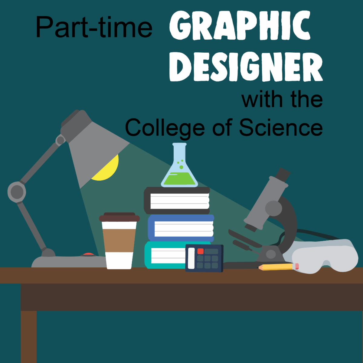 college of science graphic designer job posting
