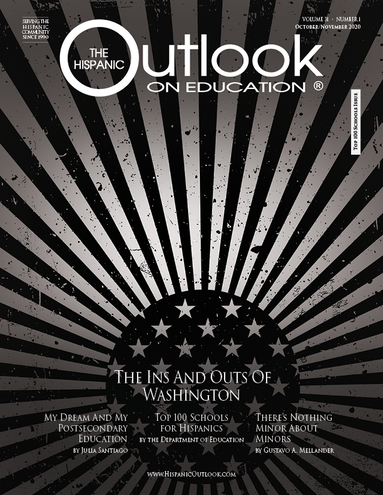 the hispanic outlook on education magazine cover october 2020 issue