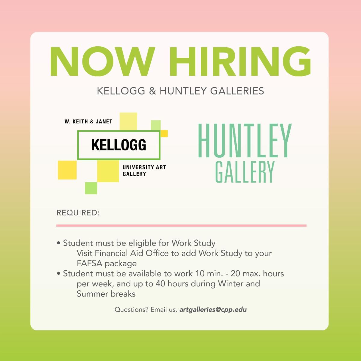 now hiring at the university art galleries