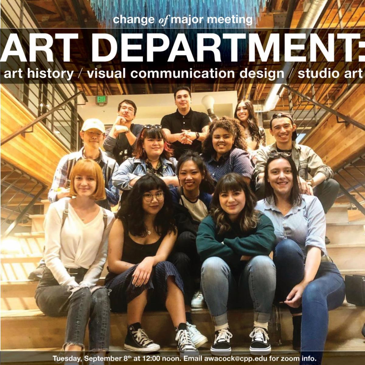 art department change of major meeting