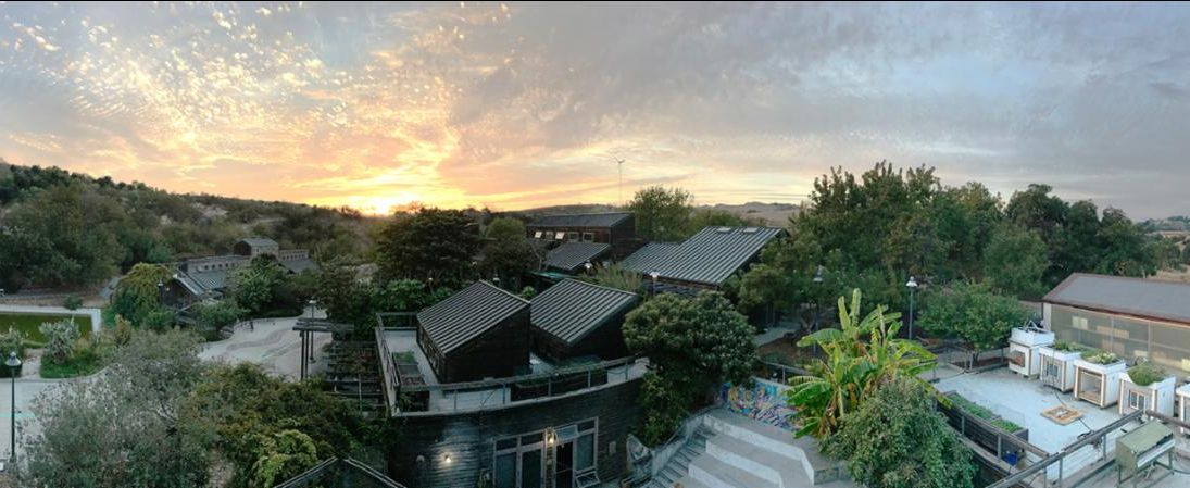 lyle center for regenerative studies at sunset