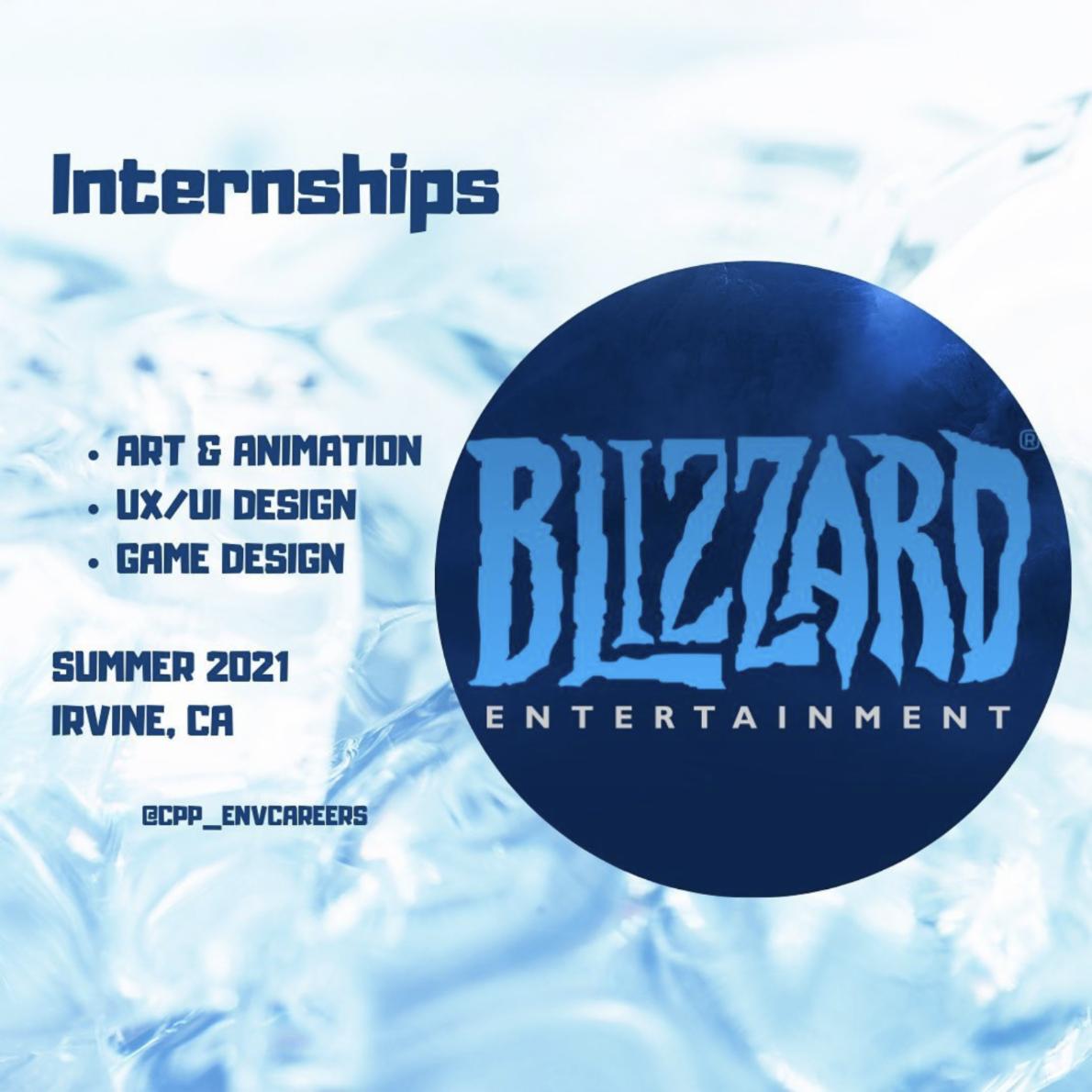 env careers blizzard summer 2021 intenrship