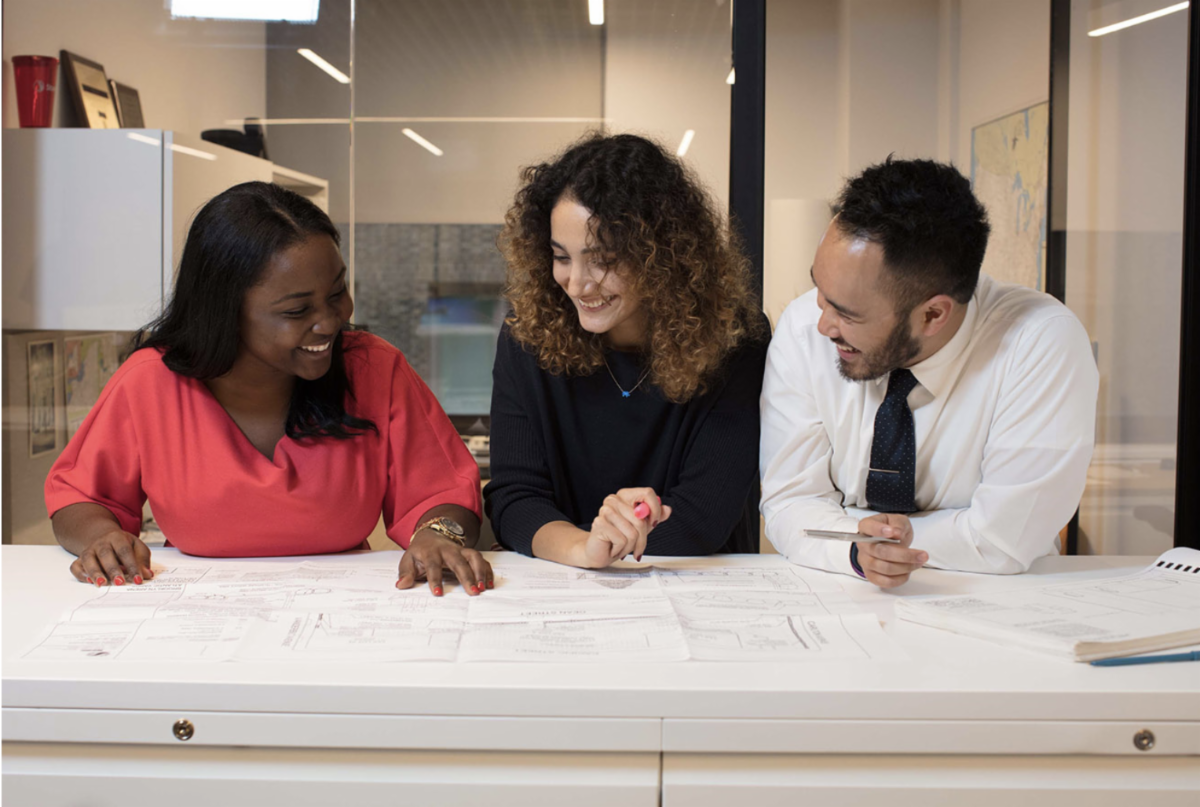 Stantec Equity and Diversity Scholarship images of three BIPOC architecture professionals