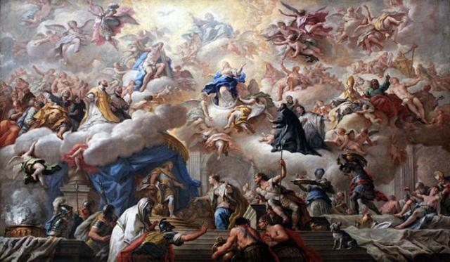 triumph-of-the immaculate anagoria painting by de matteis