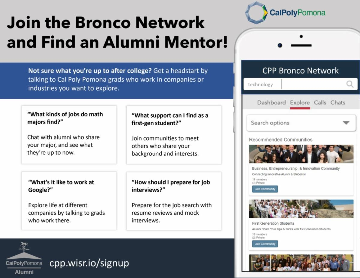 Bronco Network to Find an Alumni Mentor