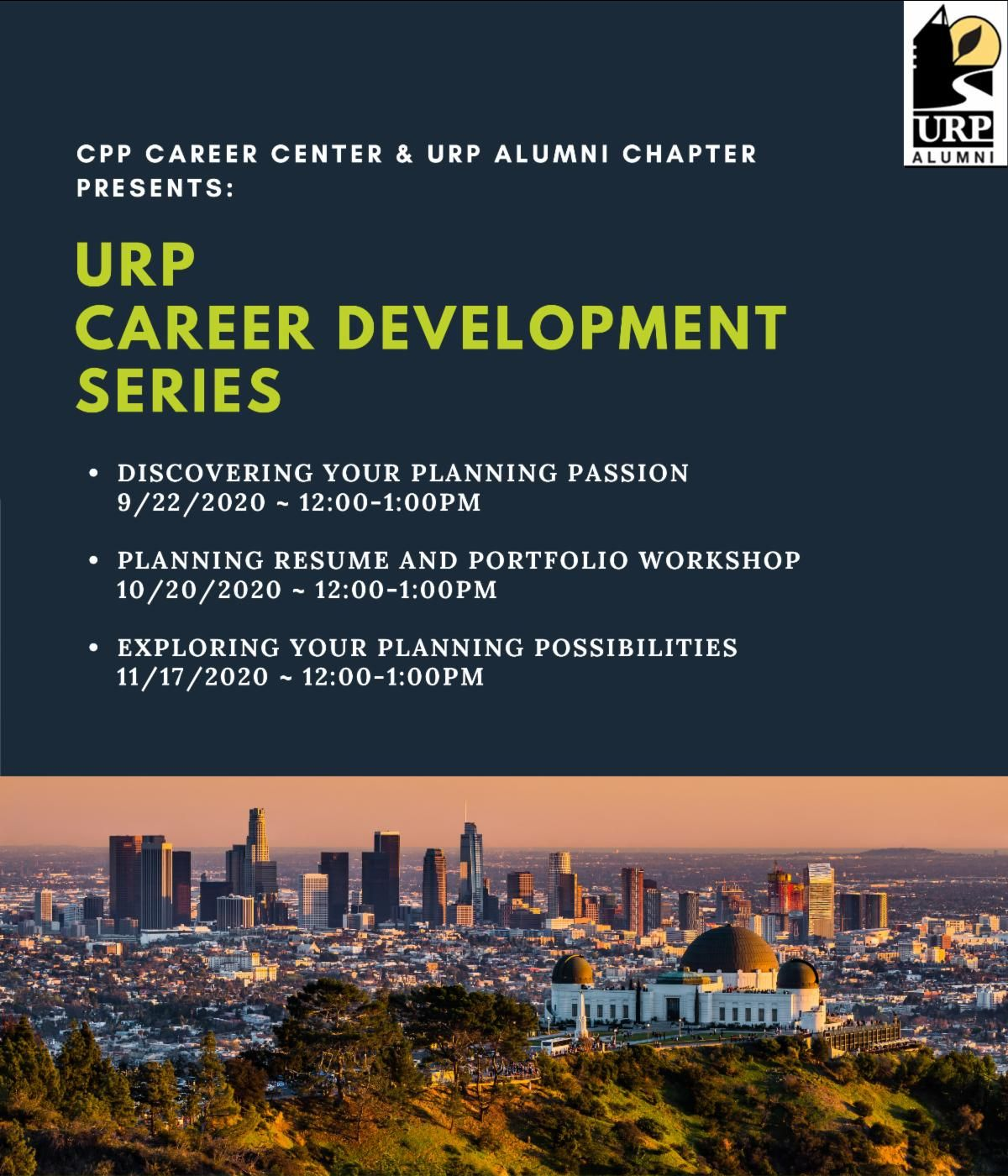 urp career series flyer fall 2020