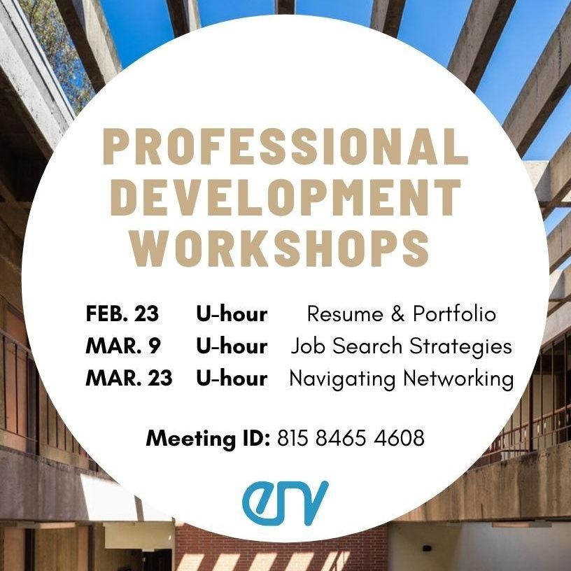 ENV Council and Career Center professional development workshops
