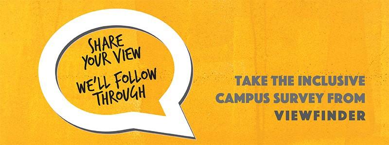 Inclusive Campus Survey orange banner
