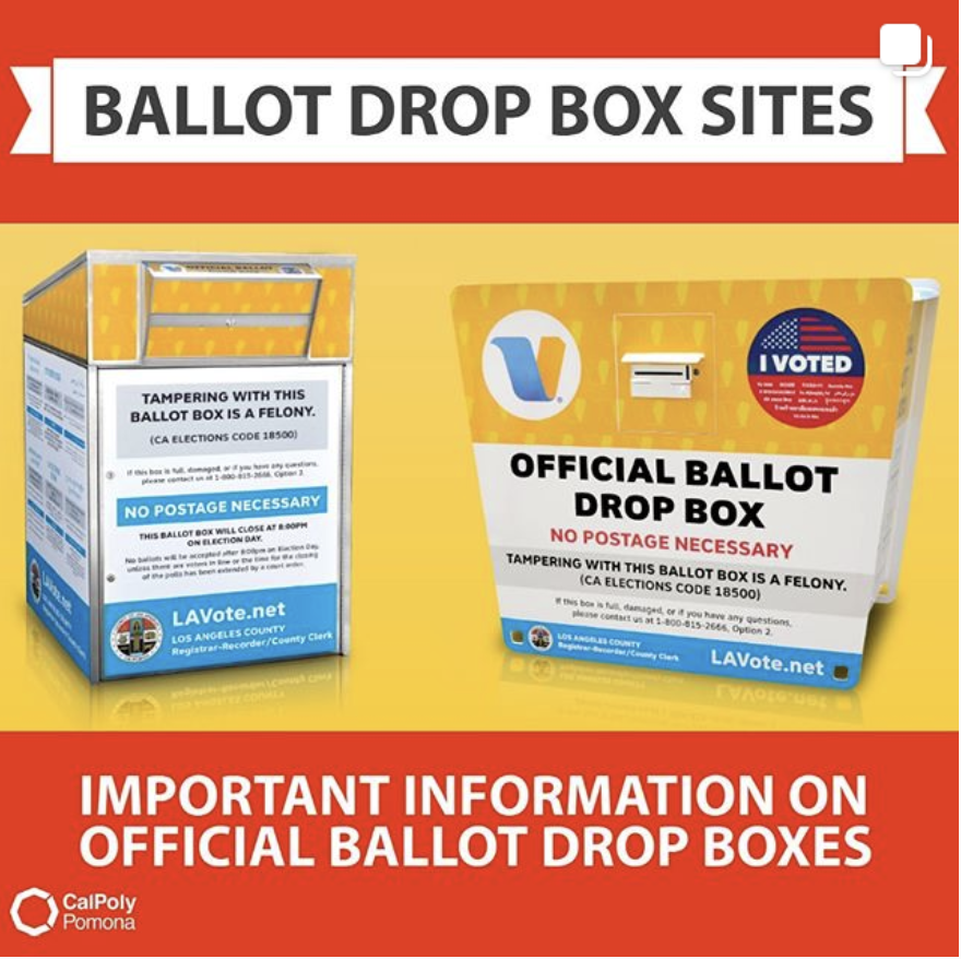 important info on official ballot drop boxes