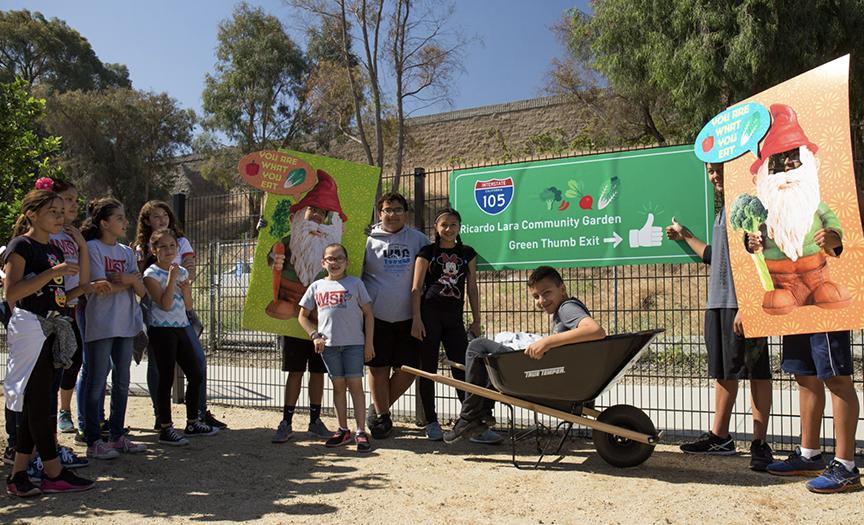 Ricardo Lara Park youth gardening group