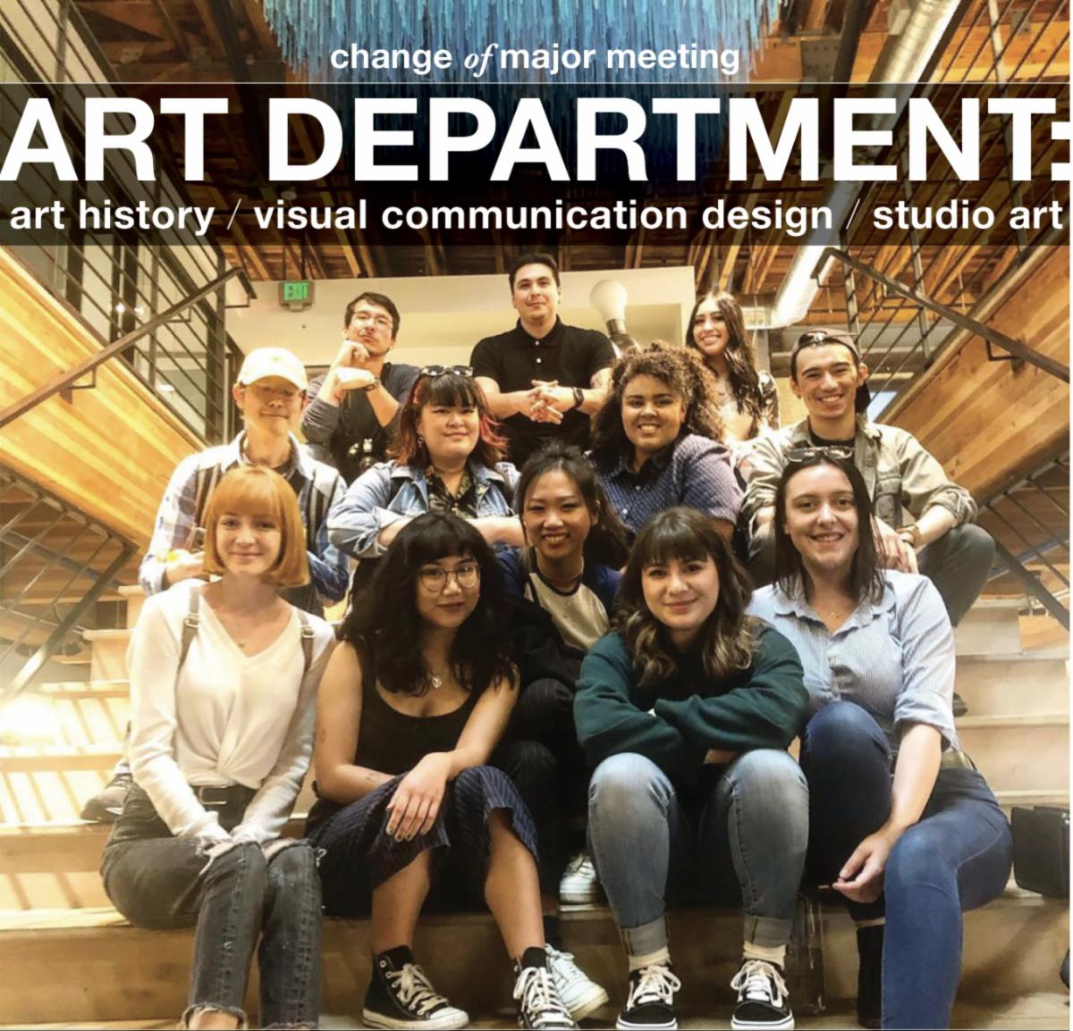 art department change of major 2021