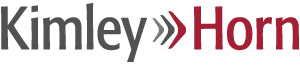 Kimley Horn logotype dark gray and cardinal