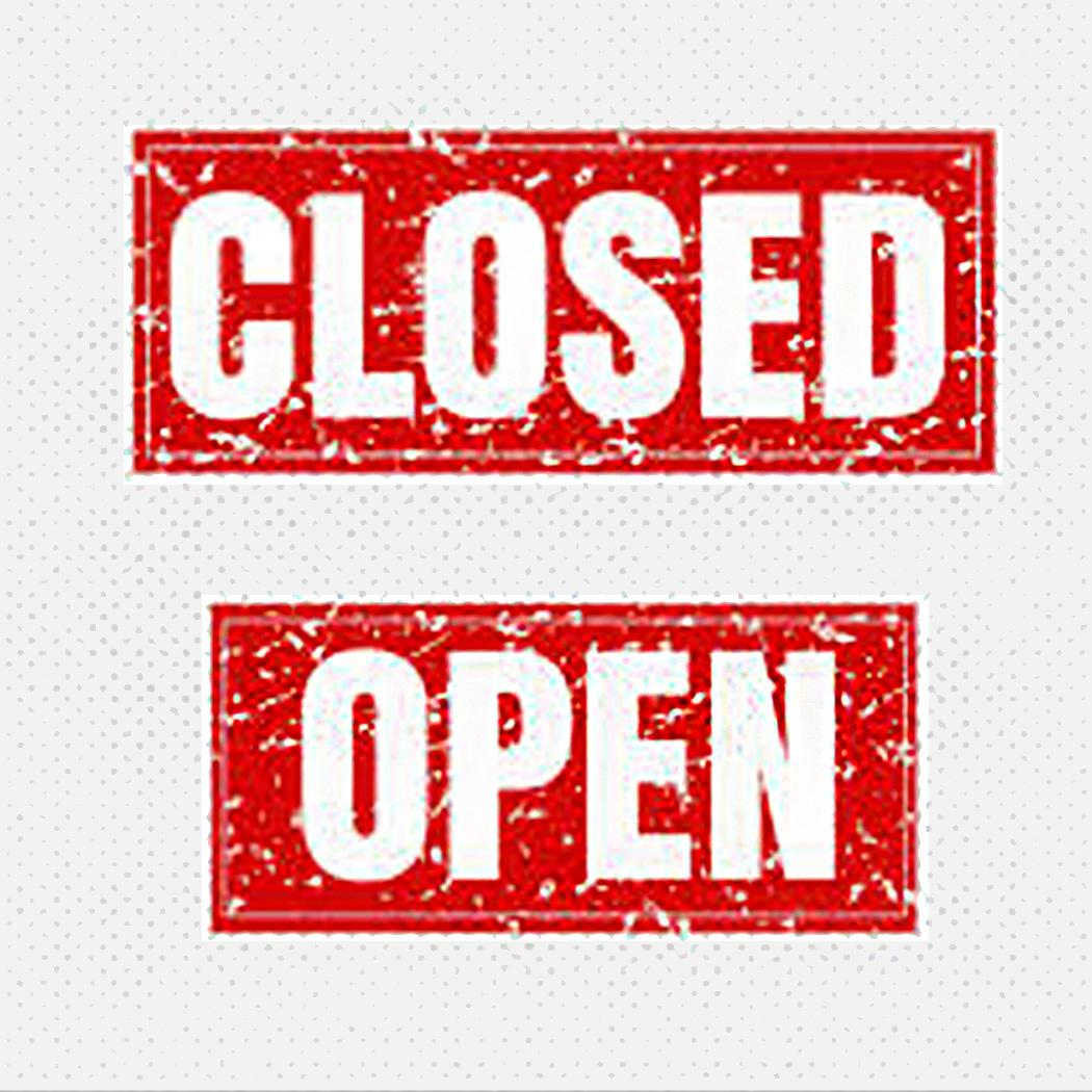 closed open sign