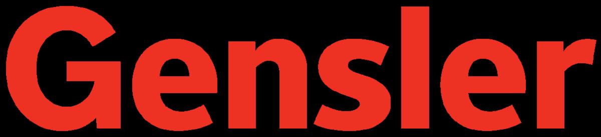Gensler logo red text