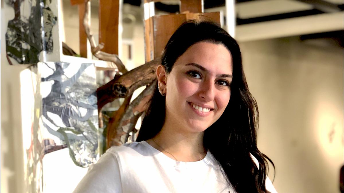 atineh movsesian 2019 art history alumna at kellogg gallery