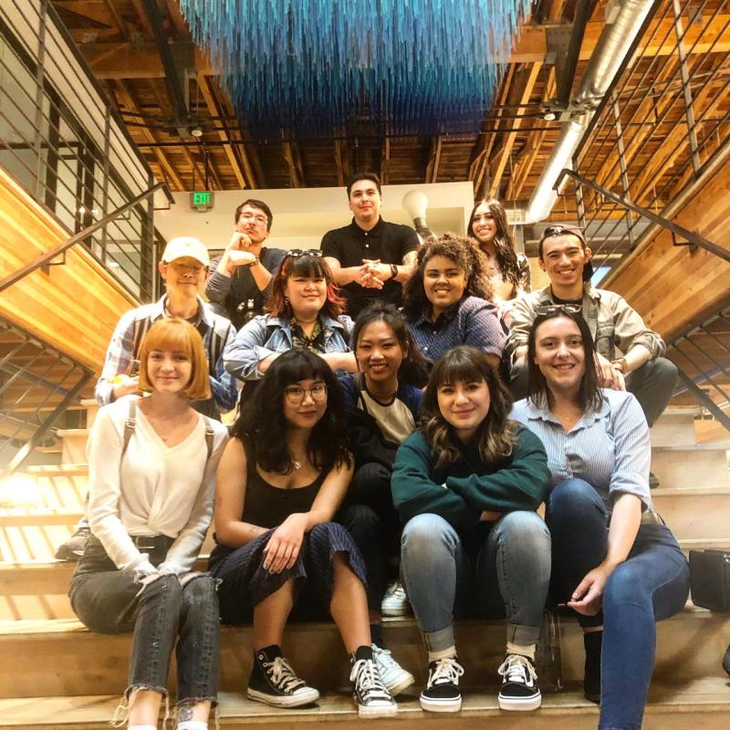 vcd students at intertrend communications office