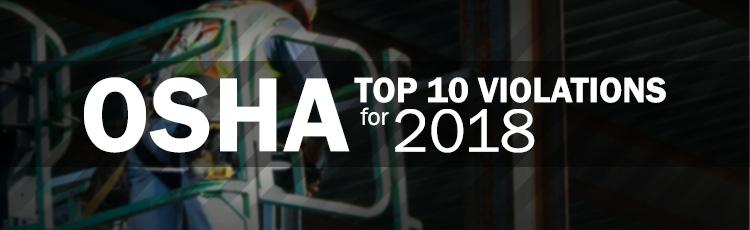 OSHA Top 10 Violations for 2018