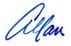 Allan's signature