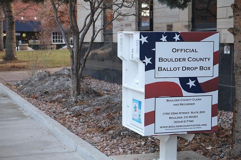 A ballot drop box from Colorado