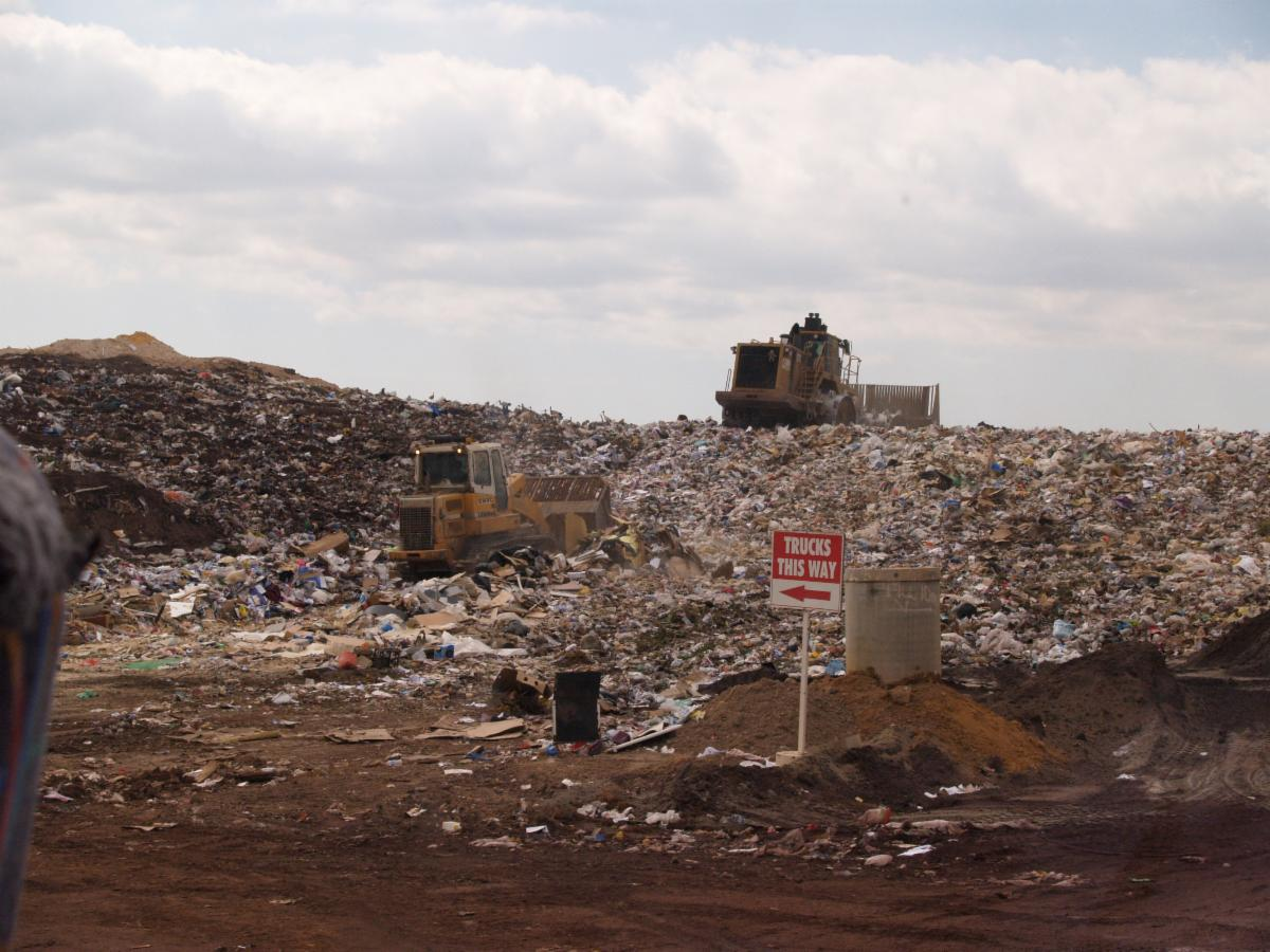 An open landfill
