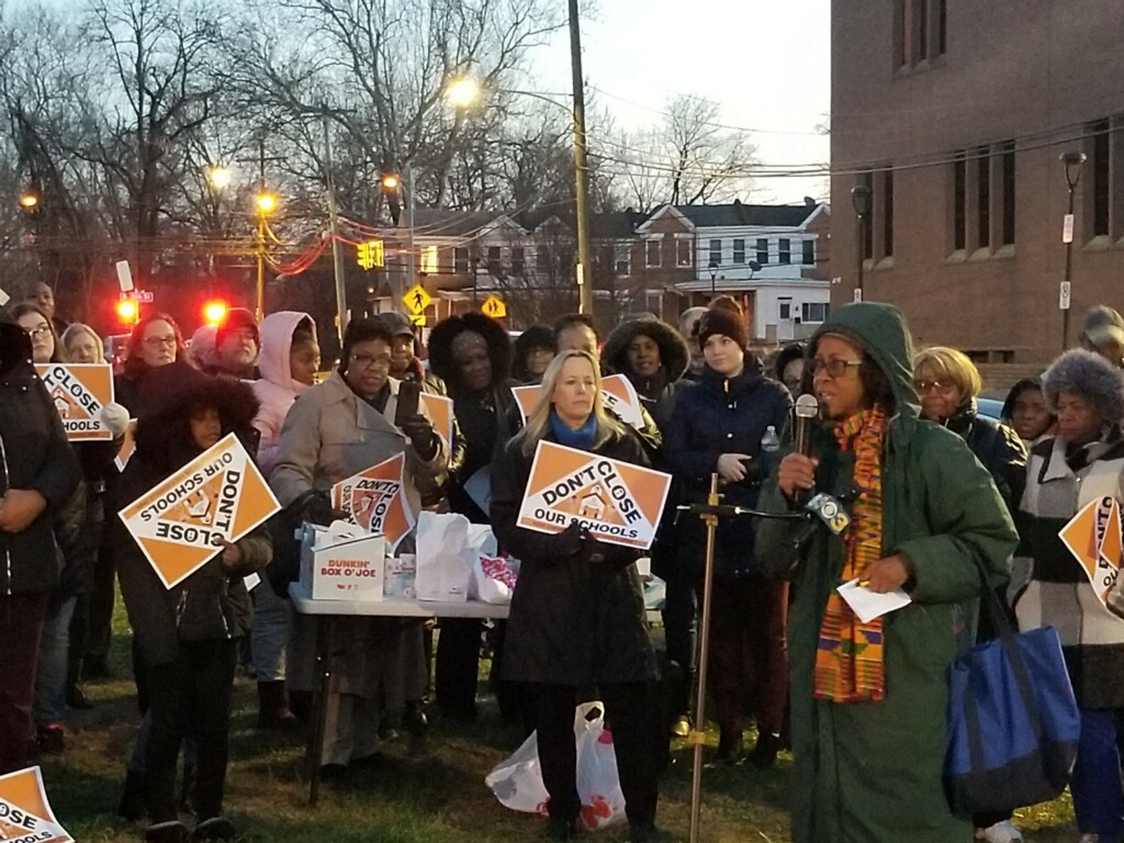 Chester Upland parents demostrate for public schools