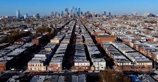 Philadelphia  rowhouse cityscape