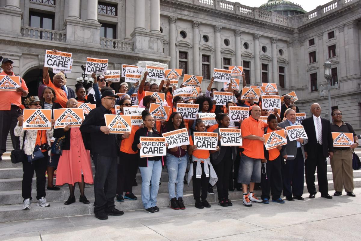 Chester Upland parents and teachers rally in Harrisburg