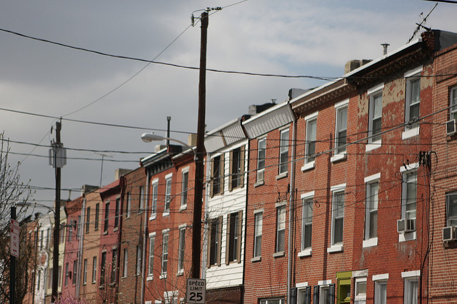 Philly row houses