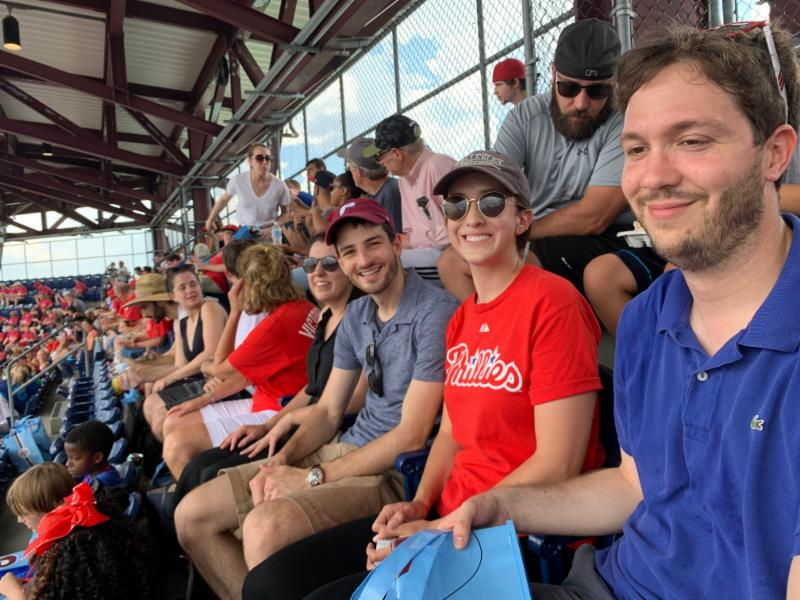 Summer interns at a Phillies game