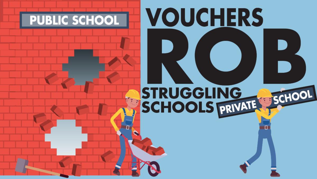 Vouchers rob public schools