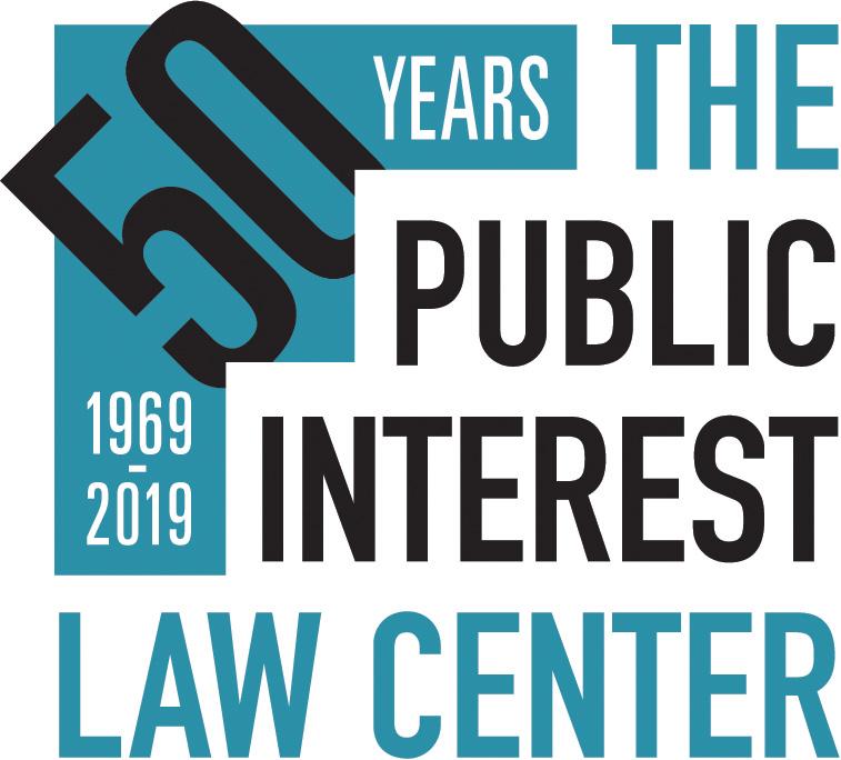 50th Anniversary Public Interest Law Center logo
