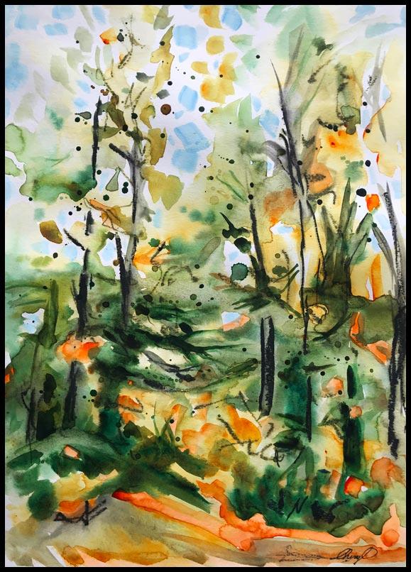 Watercolour by Cheryl O