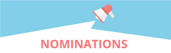 nominations megaphone pink and blue