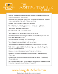 Positive School Pledge