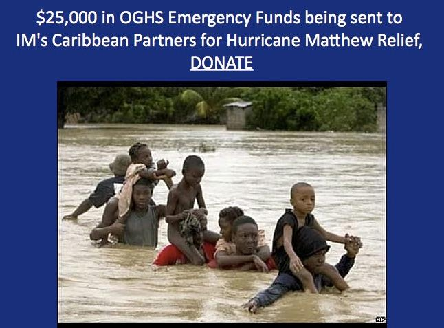ABCOPAD Prayer Update: $25K One Great Hour Of Sharing for Hurricane