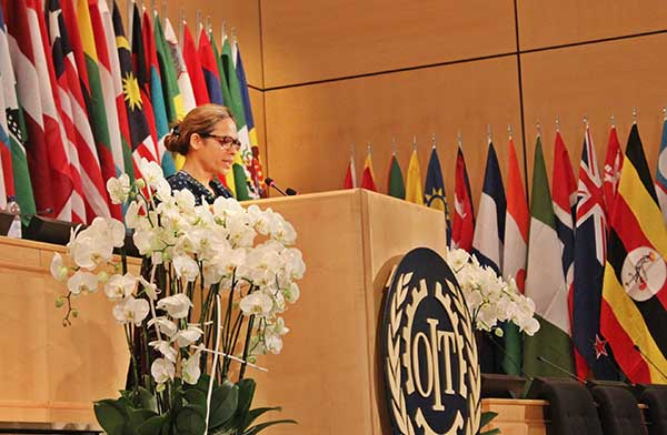Zehra Khan of HomeNet Pakistan speaks at ILC, Geneva