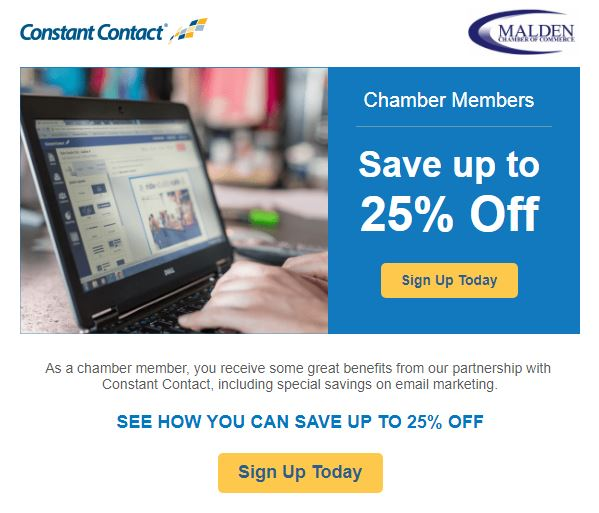 Constant Contact Chamber Offer