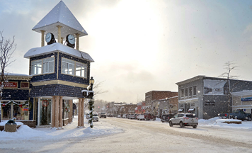 Boyne City downtown January