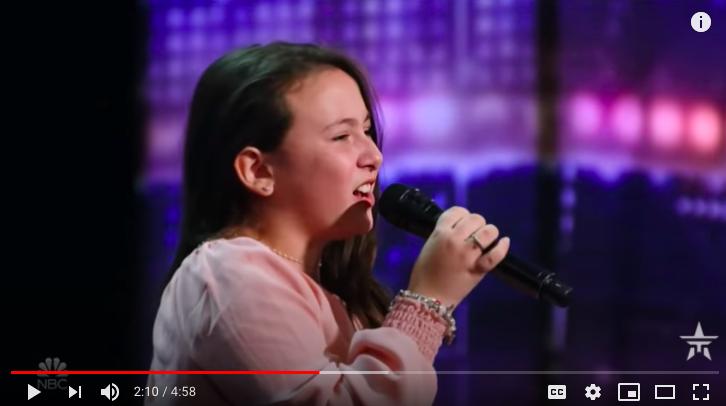 10 year old singer Roberta Battaglia impresses AGT