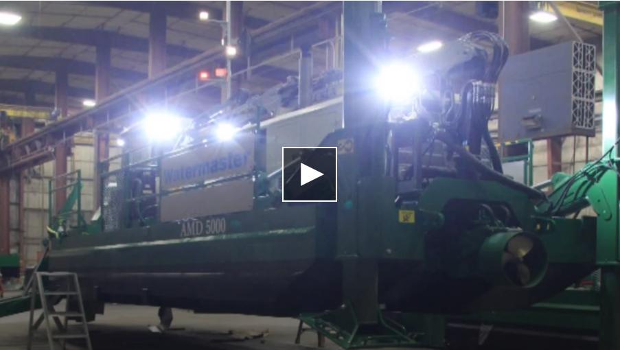 Moran Iron Works amphibious dredging machine