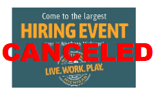 2021 Largest hiring event cancelled