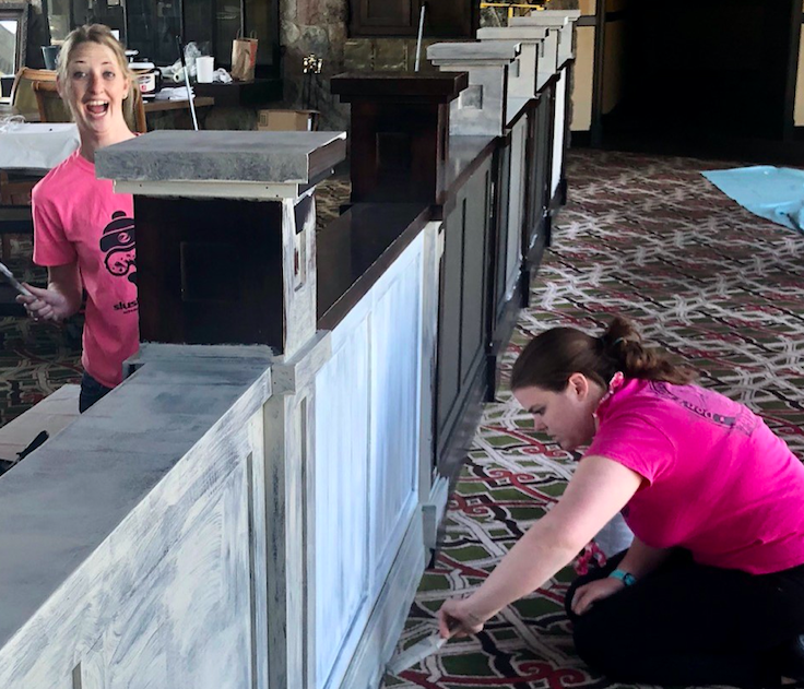 Shanty Creek employees have fun at work painting