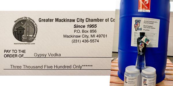 MC Chamber collaborates for sanitzer