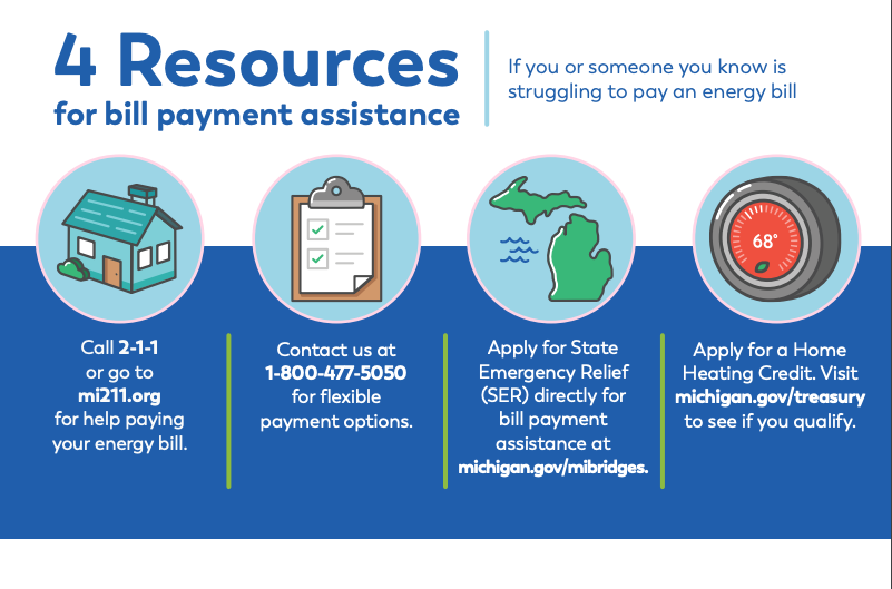 Consumers Energy assistance graphic