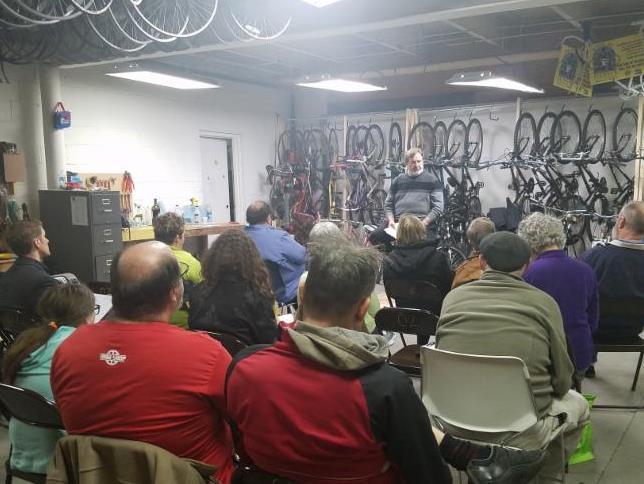 1.10.17 Talk at Bike Walk Wichita Meeting