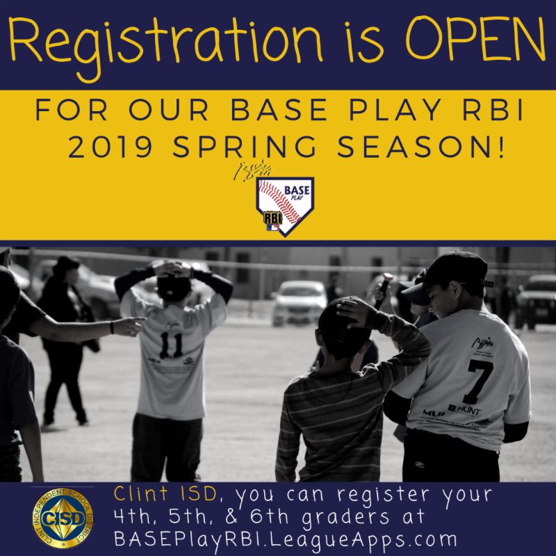 Registration is OPEN for Clint 4th 5th and 6th graders in select schools