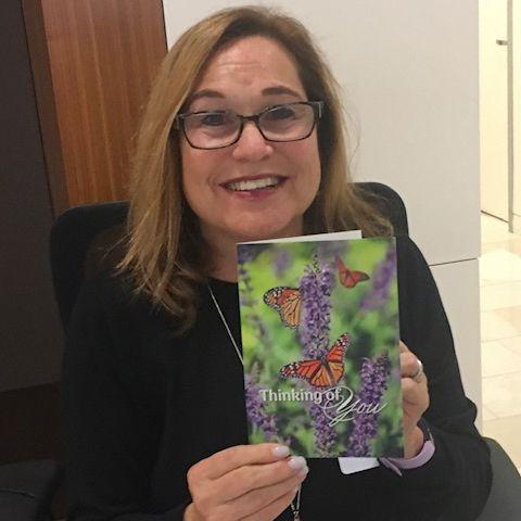 Lori Krain selling Tribute Cards