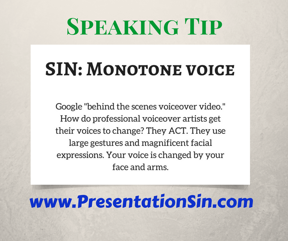 presentation sin speaking tip