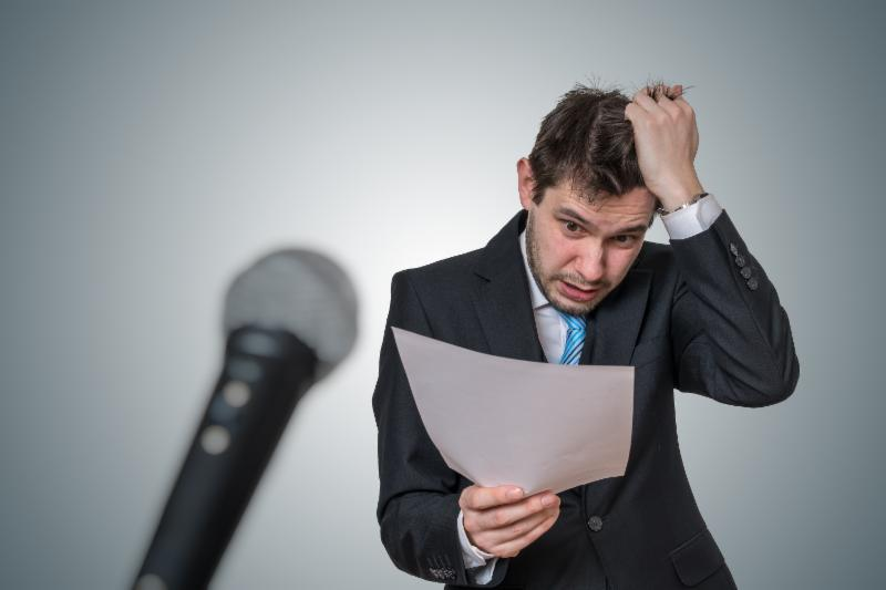 Anxiety when public speaking